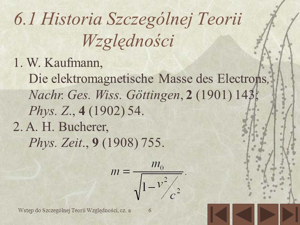 Wstęp do Szczególnej Teorii Względności, cz.a7 3.