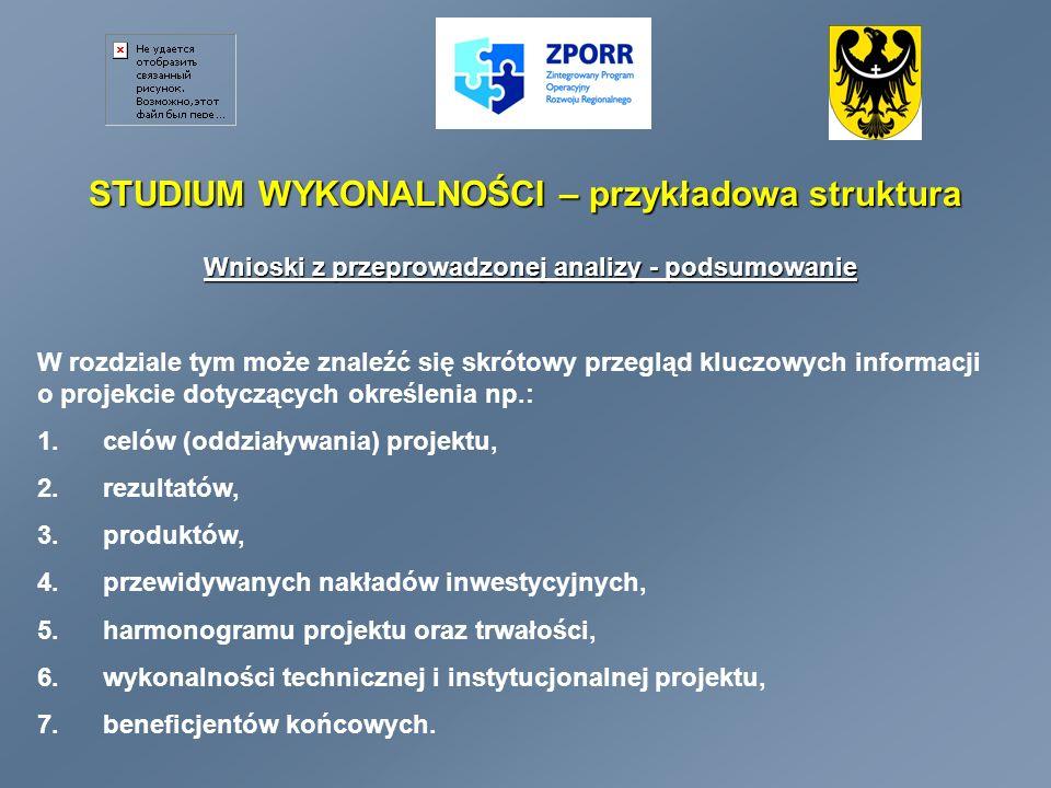 STUDIUM WYKONALNOŚCI – przykładowa struktura 2.