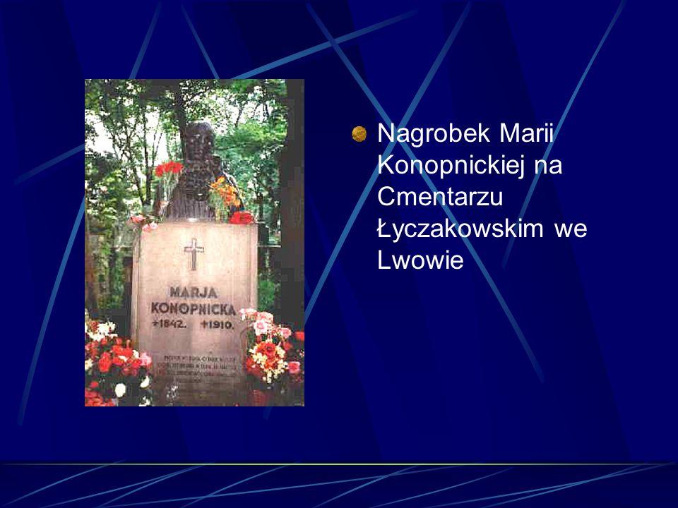 Nagrobek Marii Konopnickiej na Cmentarzu Łyczakowskim we Lwowie