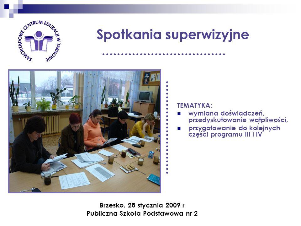 Wizyty monitorujące realizację programu Dyrektor PSP nr 2 w Brzesku p.