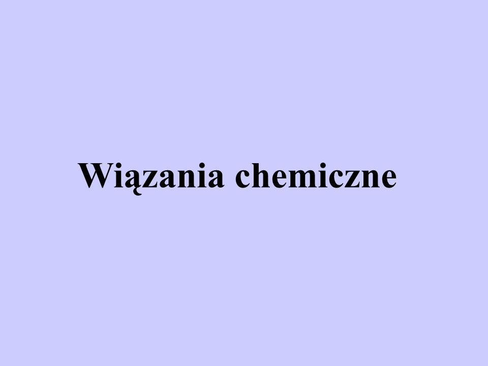 Tworzenie się związków chemicznych i powstawanie odpowiednich wiązań chemicznych tłumaczy się charakterystycznym kwantowo- mechanicznym oddziaływaniem pomiędzy elektronami i jądrami łączących się atomów.