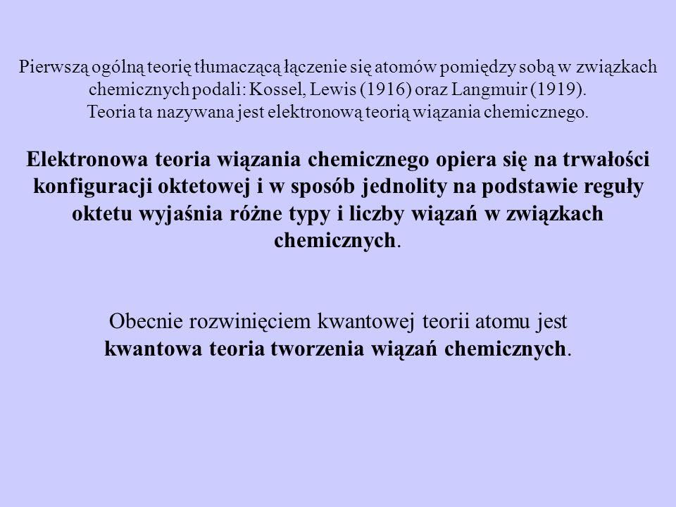 Elektronowa teoria wiązania chemicznego