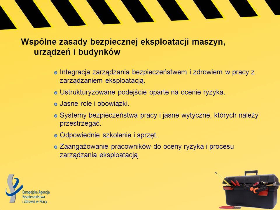Pięć podstawowych zasad bezpiecznej eksploatacji maszyn, urządzeń i budynków Planowanie.