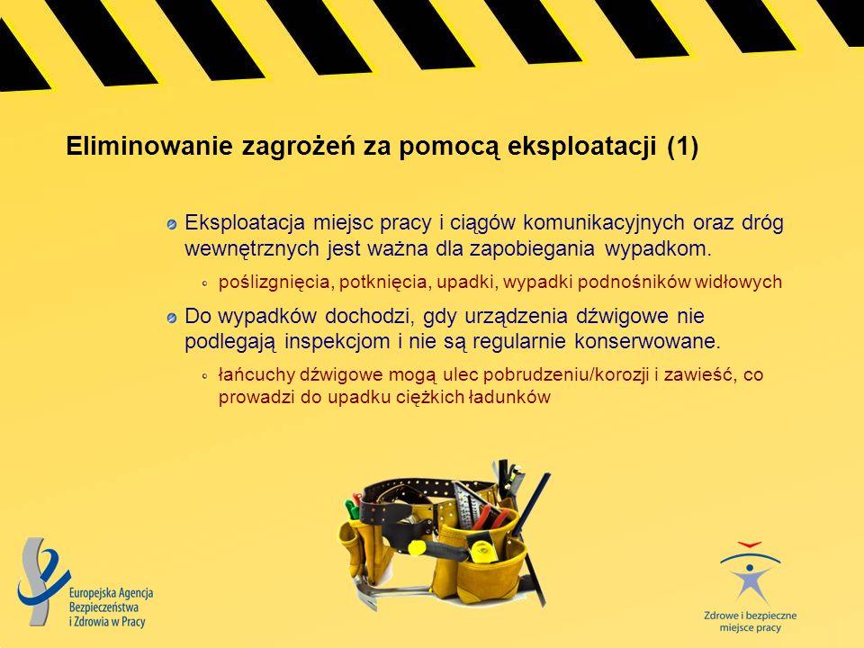 Eliminowanie zagrożeń za pomocą eksploatacji (2) Wypadki w miejscu pracy związane z elektrycznością prowadzą do istotnej liczby zgonów.