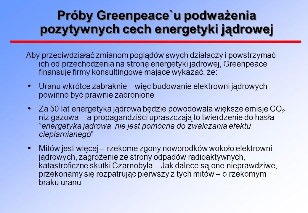Mit: Rzekomy brak uranu Greenpeace przygotował swą akcję starannie – wynajął inżynierów chemików, pp.