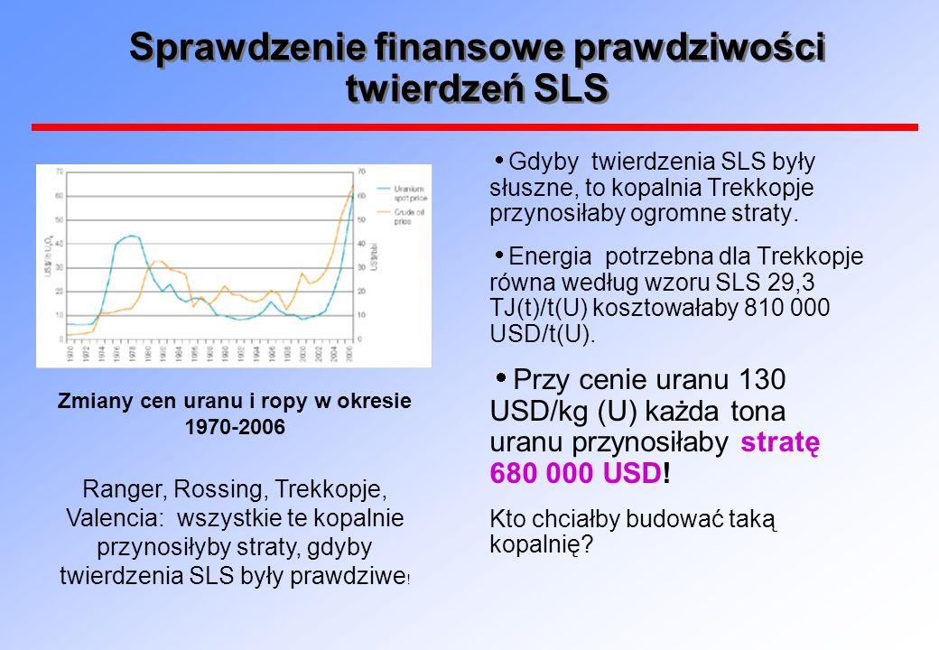 Uwaga: SLS podawali wielkość potrzebnej energii jako sumę energii cieplnej i elektrycznej dodawanej bezpośrednio bez uwzględnienia, że energia elektryczna jest zwykle mnożona przez 3 by uzyskać równoważna energię cieplną.