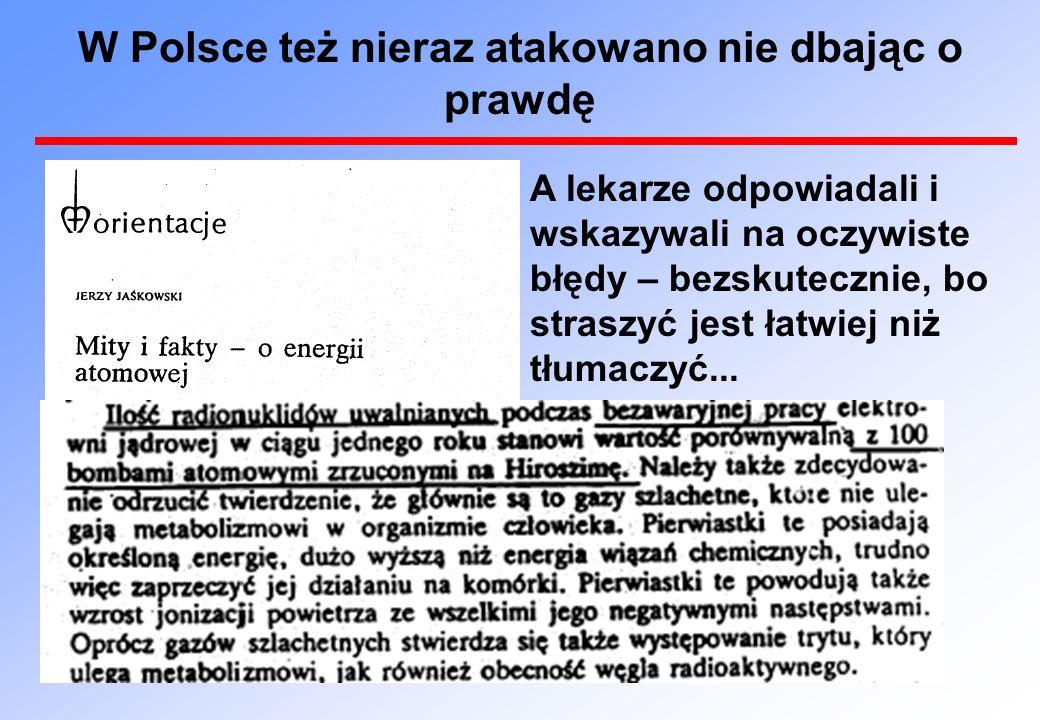 Odpowiedź lekarzy polskich na kłamstwa J. Jaśkowskiego...