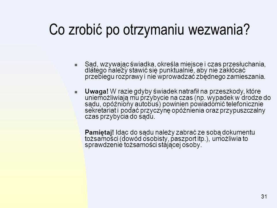 32 Przebieg rozprawy Rozprawę rozpoczyna wywołanie sprawy, które polega na ogłoszeniu przez sędziego lub protokolanta, że będzie rozpatrywana sprawa, przykładowo Kowalskiego przeciwko Nowakowi o zapłatę.