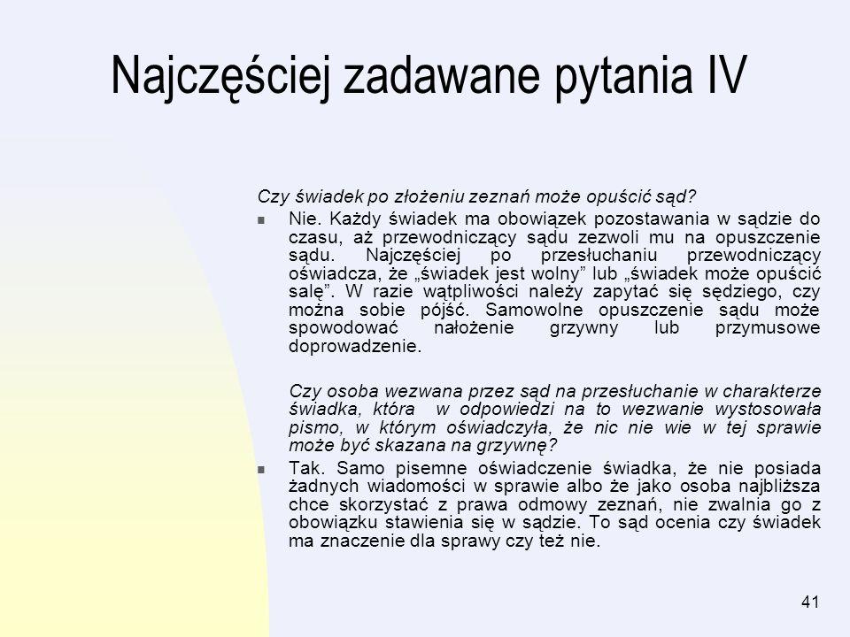 42 Rozdział III Świadek w procesie karnym Spis treści.