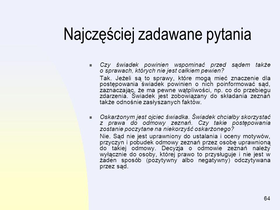 65 Rozdział IV Informacje dla oskarżonych Spis treści: Słownik pojęćstr.