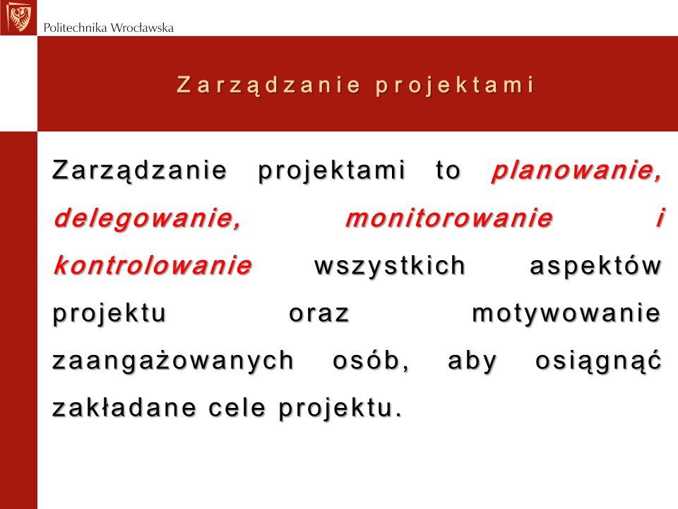 Zarządzanie projektami CO CHCEMY KONTROLOWAĆ ??.