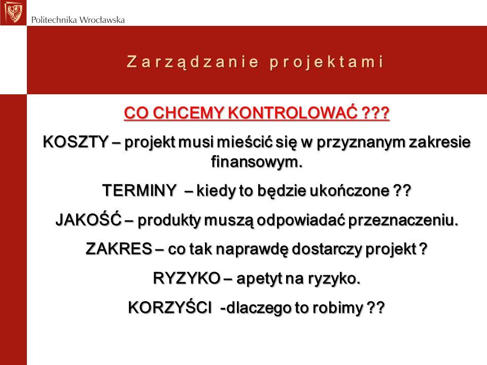 Zarządzanie projektami ŁAD ZARZADZANIA PROJEKTAMI -Kto ponosi całkowitą odpowiedzialność za ład zarządzania.