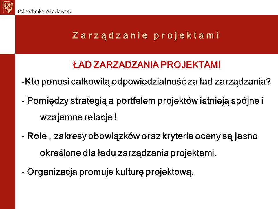 Zarządzanie projektami Czy uczelnie stosują metodyki zarządzania projektami.