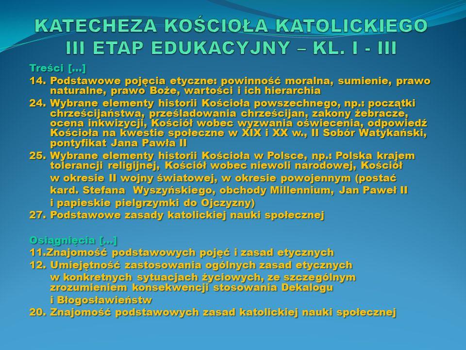 Cele katechezy […] 7.