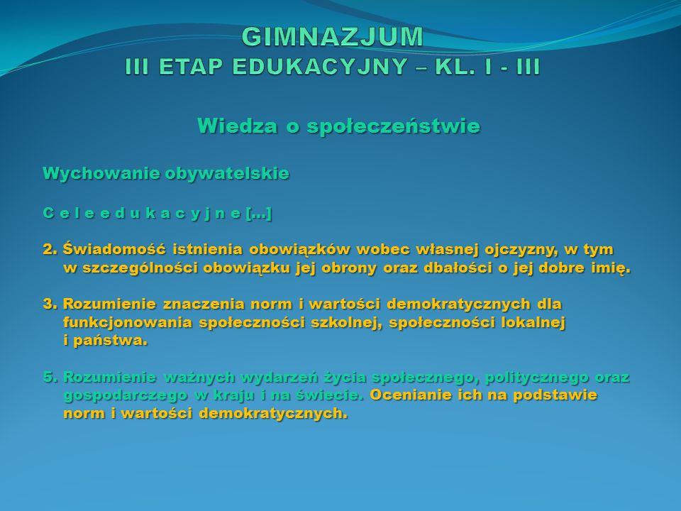 Wiedza o społeczeństwie Wychowanie obywatelskie Z a d a n i a s z k o ł y […] 2.