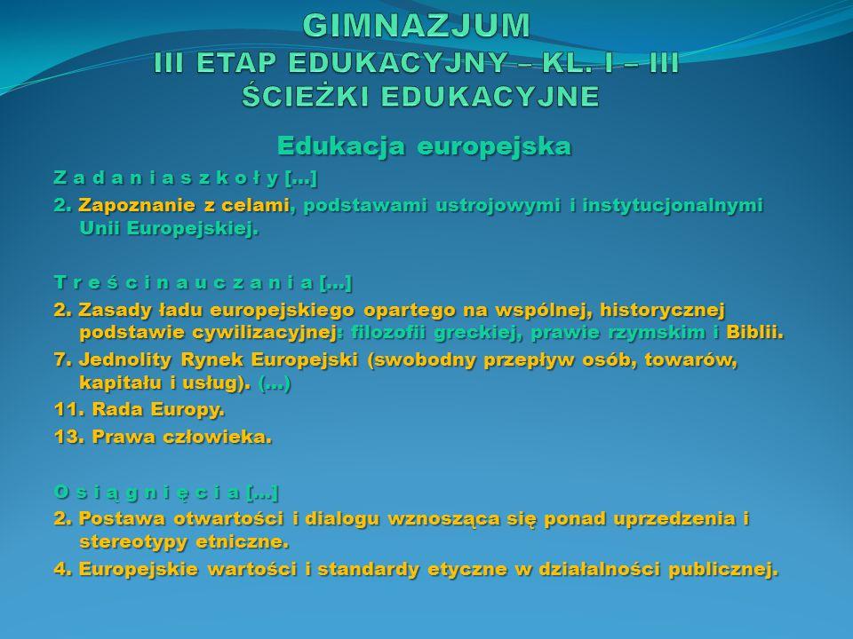 Edukacja filozoficzna T r e ś c i n a u c z a n i a […] 8.
