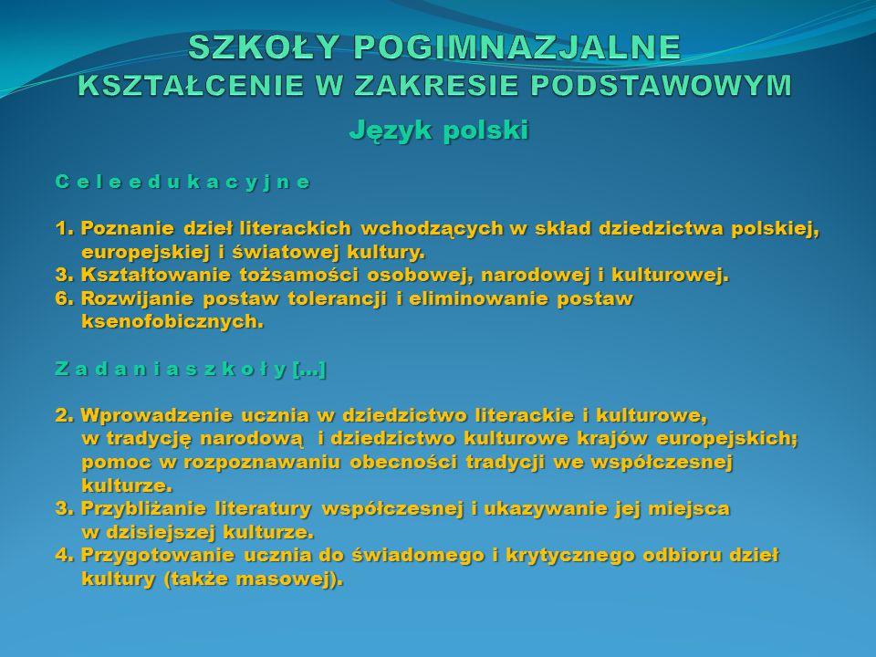 Język polski T r e ś c i n a u c z a n i a […] 11.