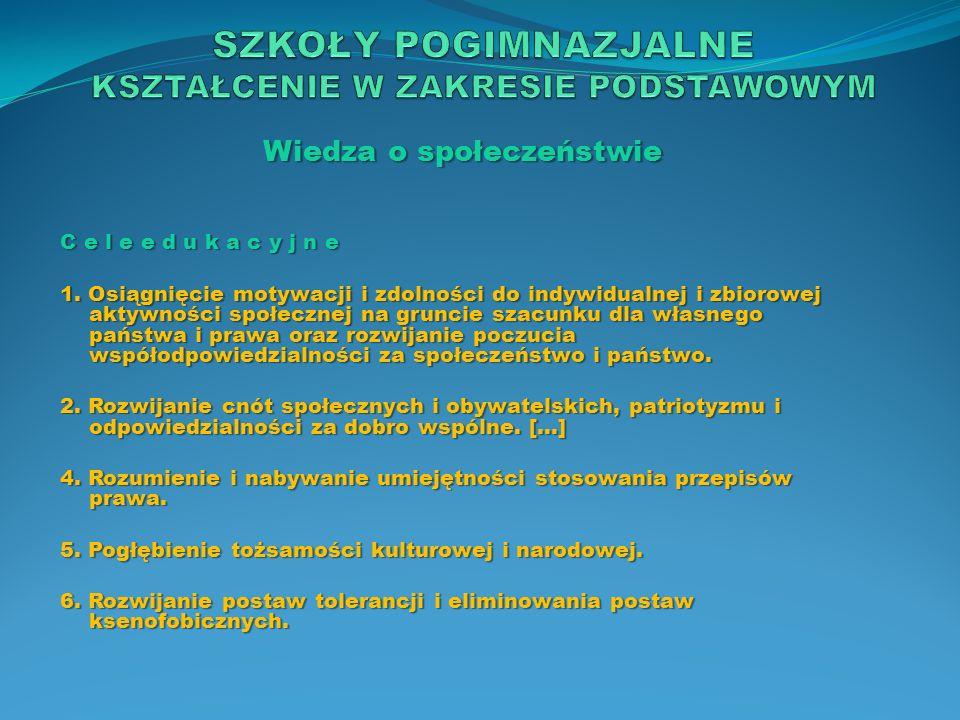 Wiedza o społeczeństwie Z a d a n i a s z k o ł y 1.