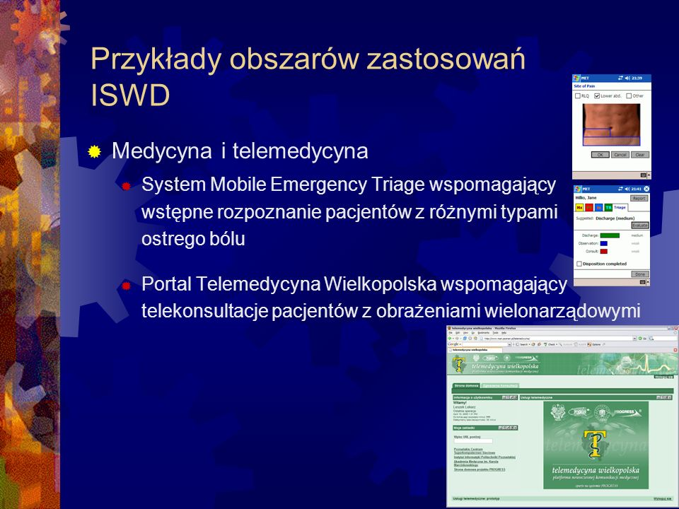 Przykłady obszarów zastosowań ISWD Logistyka i planowanie tras Planowanie rozmieszczenia centrów dystrybucji dla Cussons Polska S.A.