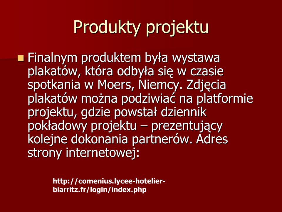 Produkty projektu Ponadto zdjęcia niektórych plakatów można podziwiać na wystawie w naszej szkole, we wrześniu 2011 roku.