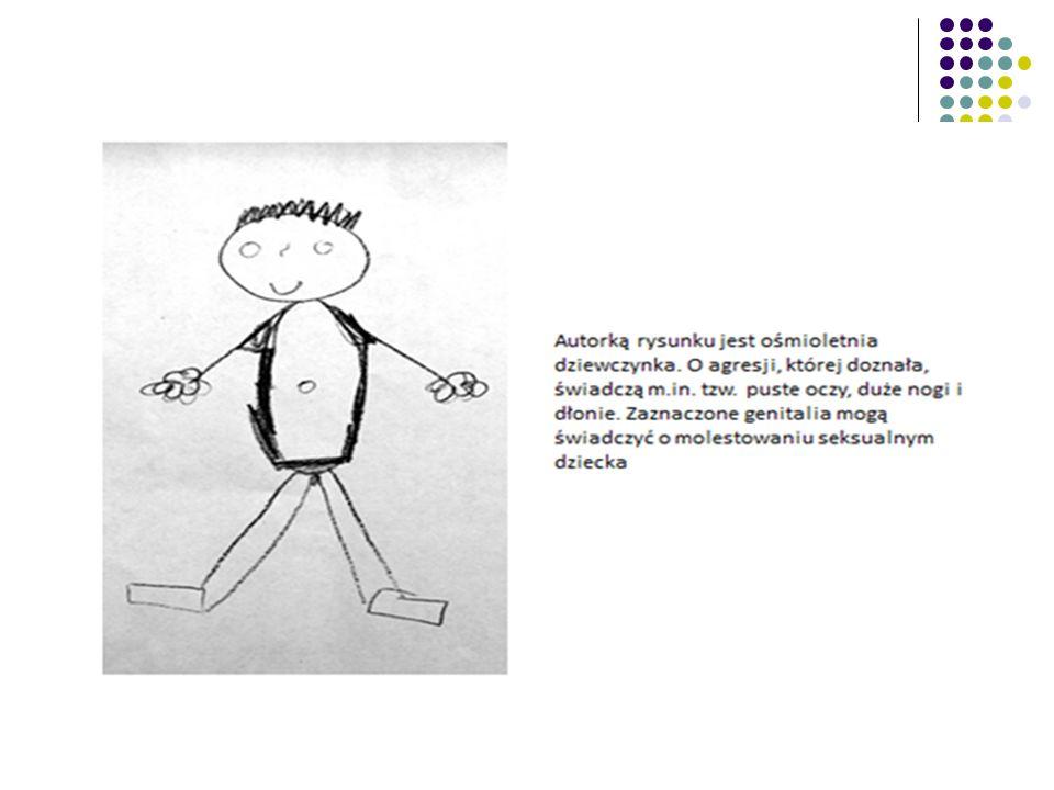 Rysunek 10-letniego chłopca, bitego przez ojca.