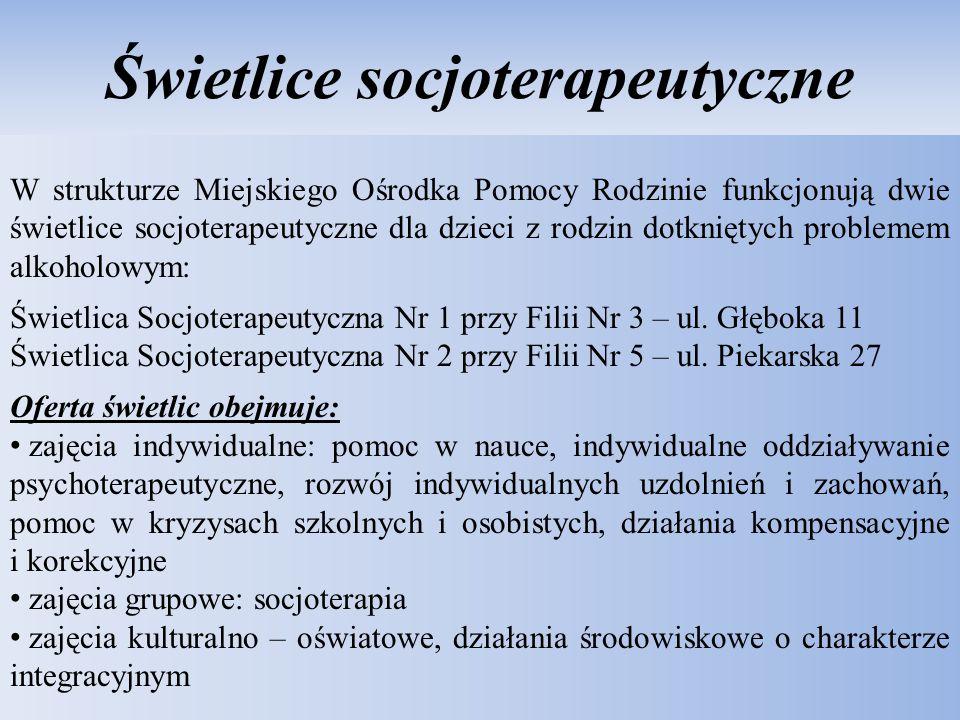 Pomoc Miejskiego Ośrodka Pomocy Rodzinie w Lublinie na rzecz osób wykluczonych społecznie Podstawa prawna: Ustawa o pomocy społecznej z dnia 12 marca 2004r.