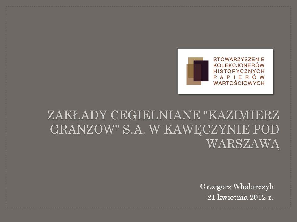 KAZIMIERZ GRAZNOW (1832 – 1912) Warszawski przedsiębiorca budowlany pochodzenia niemieckiego, założyciel Zakładów Cegielnianych Kazimierza Granzowa SA w Kawęczynie, wierny Kościoła Ewangelicko – Augsburskiego.