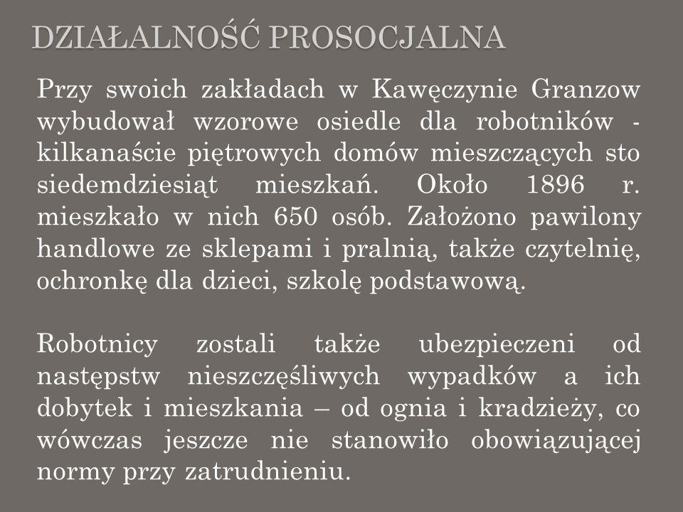 SPÓŁKA AKCYJNA W 1911 roku (choć można się spotkać także z datą 1912 r.) Zakłady Cegielnicze Granzowa przekształciły się w spółkę akcyjną, Do spółki weszli, oprócz Granzowów także spokrewnione z nimi rody – Temlerów oraz Wedlów, Administracja została ulokowana w Al.