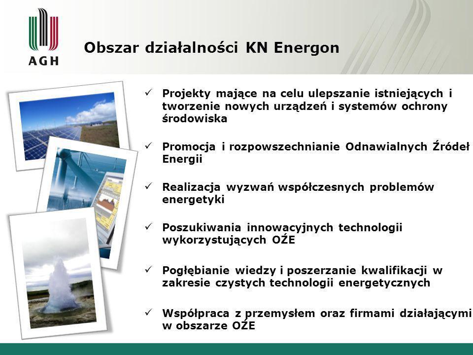 Dotychczasowe osiągnięcia, wydarzenia Współpraca ze studentami ASP w Krakowie, której owocem było logo Koła Naukowego Energon, Podpisanie 24.11.2011r.