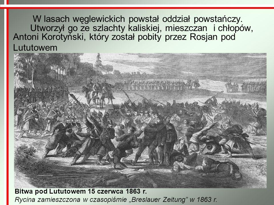 Znaczącą postacią na ziemi wieluńskiej obok Józefa Oxińskiego był Aleksander Littich, naczelnik wojskowy powiatu wieluńskiego.