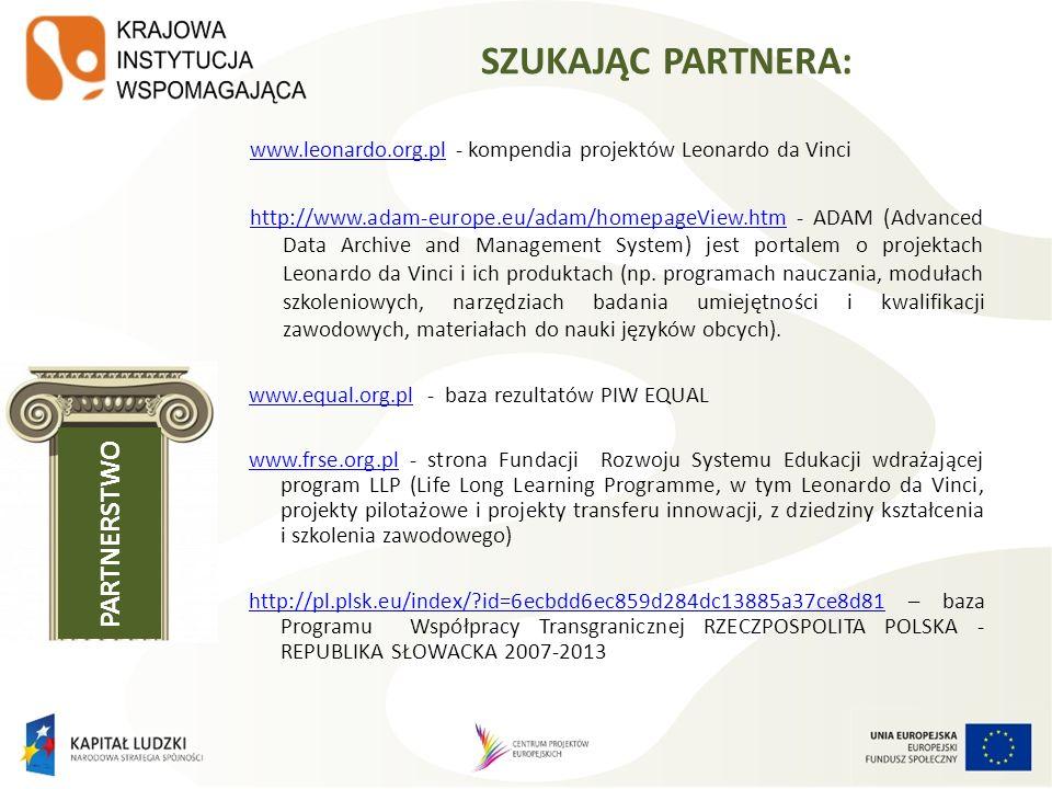 http://www.esfconet.provincia.tn.it/public/partnership_view.phphttp://www.esfconet.provincia.tn.it/public/partnership_view.php - baza ESFCoNet jest siecią współpracy ponadnarodowej utworzoną w celu wspomagania wdrażania programów operacyjnych 2007–2013 poprzez wymianę informacji, dobrych praktyk, personelu oraz realizowanie projektów.