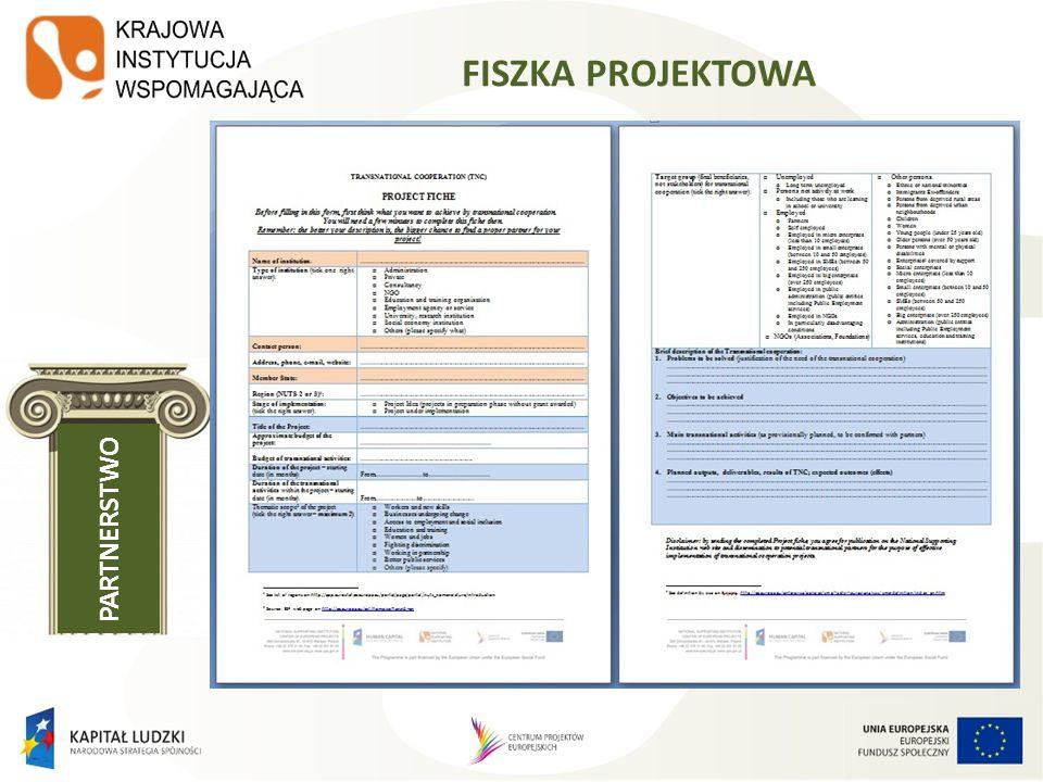 FISZKA PROJEKTOWA PARTNERSTWO http://www.kiw- pokl.org.pl/index.php?option=com _sobipro&pid=148&sid=360:Proje ct- Bumerang&Itemid=756&lang=en