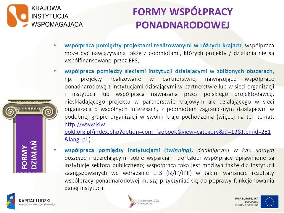 S ESJA 2 Wybrane zagadnienia finansowe i formalne w projektach współpracy ponadnarodowej w ramach PO KL