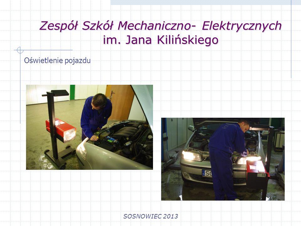 Zespół Szkół Mechaniczno- Elektrycznych im. Jana Kilińskiego SOSNOWIEC 2013 Układy komfortu jazdy