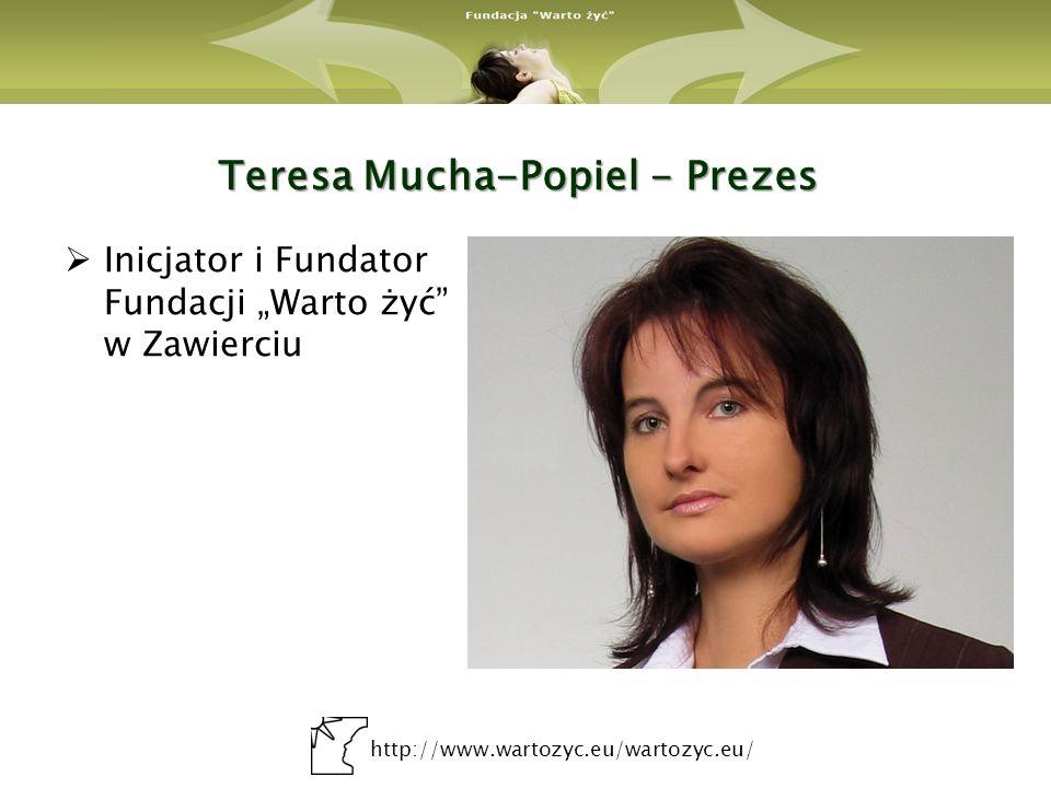 http://www.wartozyc.eu/wartozyc.eu/ Ewa Warzyńska – Zastępca Prezesa Pracownik Działu Promocji Urzędu Miasta w Zawierciu.