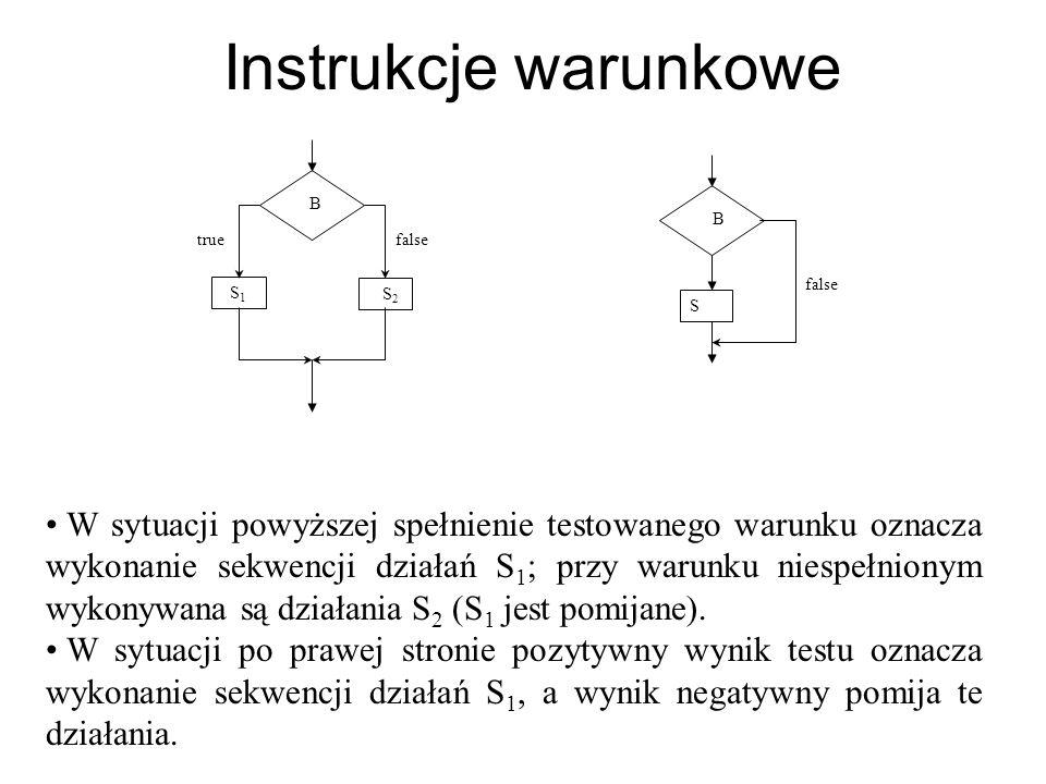 Instrukcja if - składnia Instrukcja if jest implementacją schematów podejmowania decyzji.
