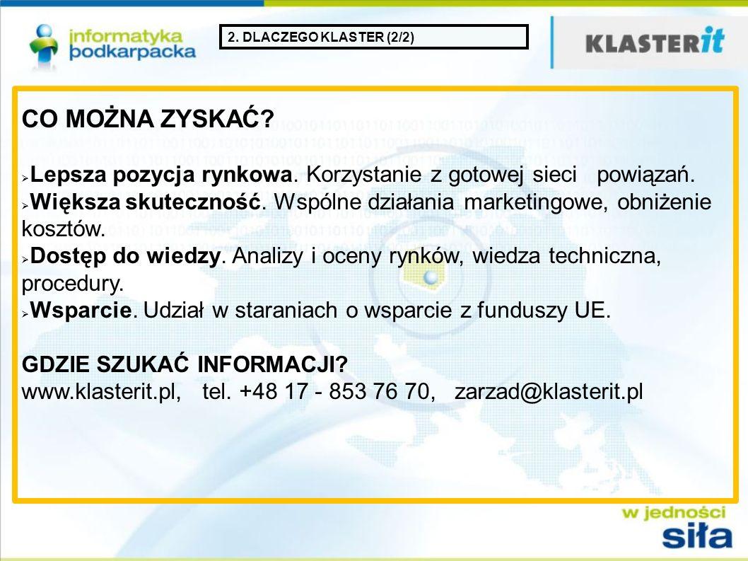 3. STRUKTURA KLASTRA KOORDYNATOR: Stowarzyszenie Informatyka Podkarpacka