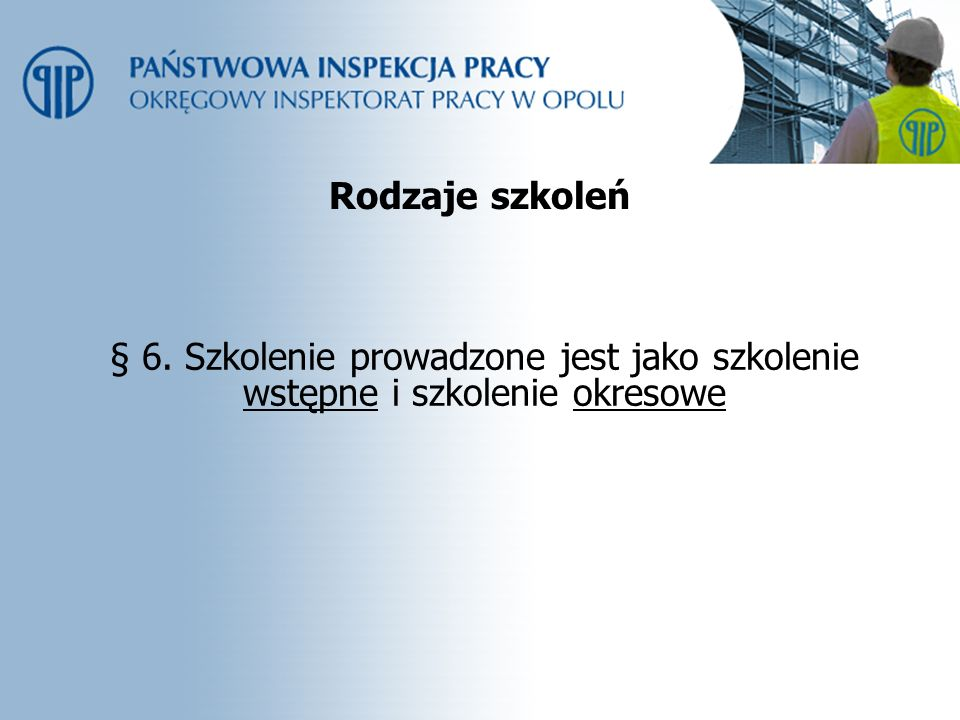 Programy szkoleń § 7.1.