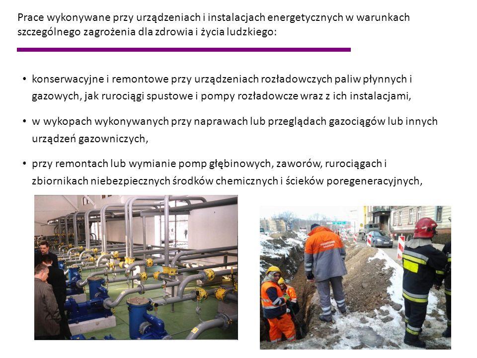 Prace w warunkach szczególnego zagrożenia dla zdrowia i życia ludzkiego, określone w ogólnych przepisach powinny być wykonywane co najmniej przez dwie osoby BHP pracy jako prace szczególnie niebezpieczne, z wyjątkiem prac eksploatacyjnych z zakresu prób i pomiarów, konserwacji i napraw urządzeń i instalacji elektroenergetycznych o napięciu znamionowym do 1 kV, wykonywanych przez osobę wyznaczoną na stałe do tych prac w obecności pracownika asekurującego, przeszkolonego w udzielaniu pierwszej pomocy.