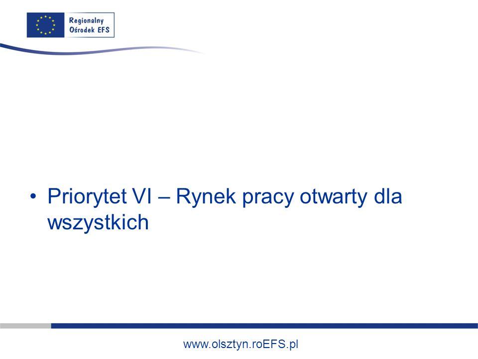 www.olsztyn.roEFS.pl 1.Identyfikacja potrzeb osób pozostających bez zatrudnienia, w tym m.in.