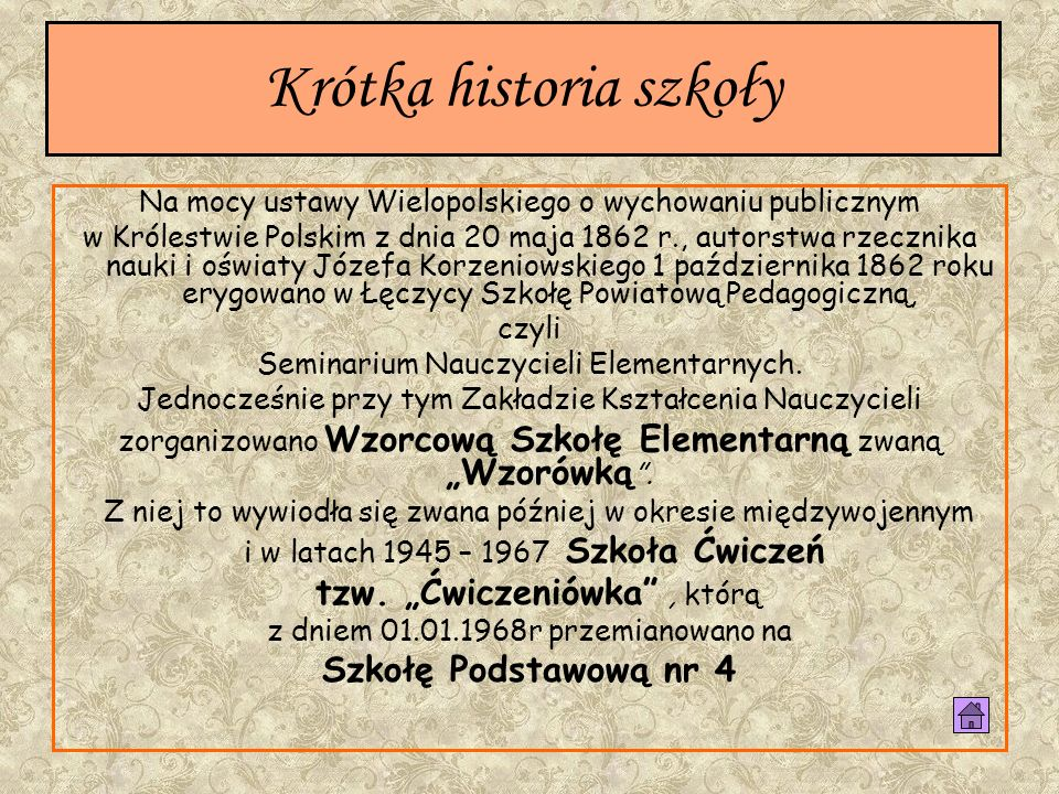 Wybór imienia szkoły został podyktowany następującymi faktami: W Bronowie, a później Gusinie, wioskach położonych na obrzeżu Ziemi Łęczyckiej, Konopnicka przebywała 15 lat, gdzie poznawała życie wsi, stanowiącej jej główne tworzywo literackie.