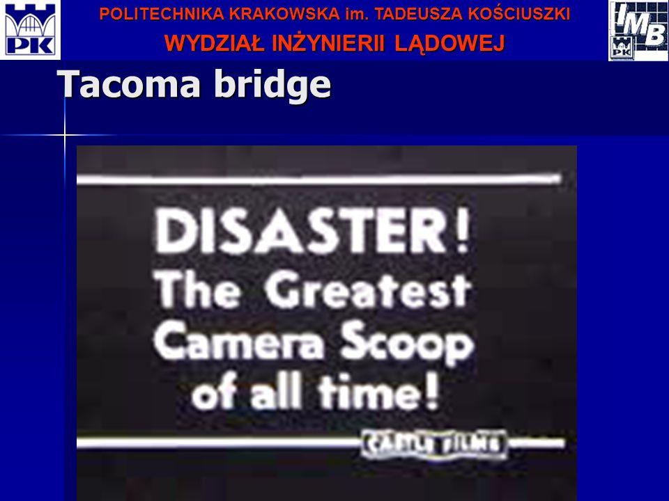 POLITECHNIKA KRAKOWSKA im. TADEUSZA KOŚCIUSZKI WYDZIAŁ INŻYNIERII LĄDOWEJ Tacoma bridge