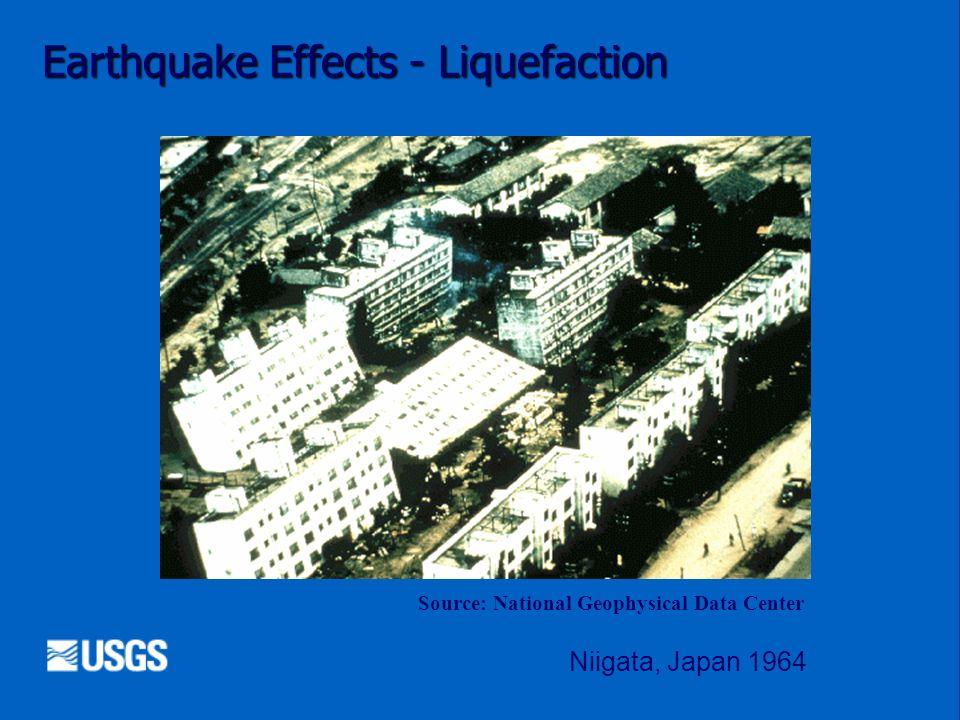 Earthquake Effects - Liquefaction Source: National Geophysical Data Center Niigata, Japan 1964