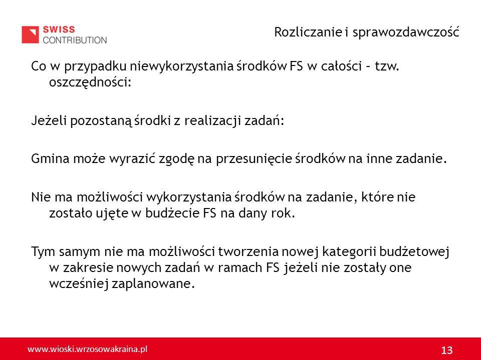 www.wioski.wrzosowakraina.pl 14 SPRAWOZDANIE UWAGA Gmina może wystąpić o sprawozdanie Czy w Państwo składaliście sprawozdanie z realizacji zadania i jakiej formie.