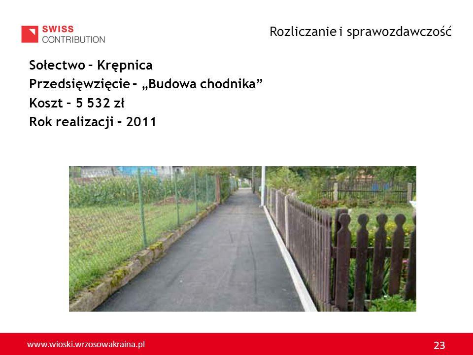 www.wioski.wrzosowakraina.pl 24 Sołectwo – Otok Przedsięwzięcie – Droga o nawierzchni asfaltowej Koszt – 10 749 zł Rok realizacji – 2011 Rozliczanie i sprawozdawczość