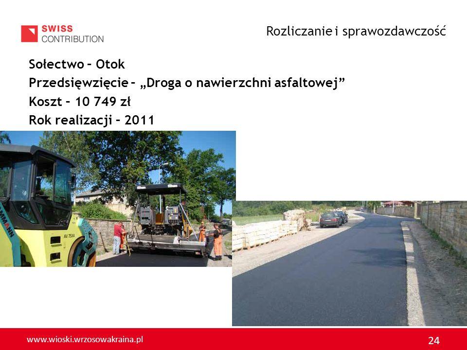 www.wioski.wrzosowakraina.pl 25 Sołectwo - Kraśnik Dolny Przedsięwzięcie – Budowa parkingu Koszt – 10 703,00 zł Rok realizacji – 2011 Rozliczanie i sprawozdawczość