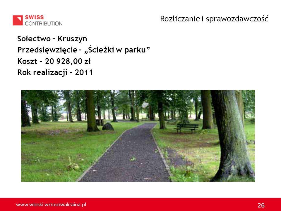 www.wioski.wrzosowakraina.pl 27 GMINA CHOCIANÓW Rozliczanie i sprawozdawczość