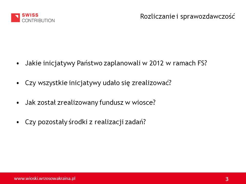 www.wioski.wrzosowakraina.pl 4 Przedstaw: + i - podjętych działań w ramach FS w 2012 r.