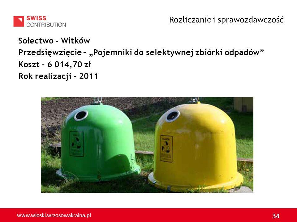 www.wioski.wrzosowakraina.pl 35 Sołectwo - Strupice Przedsięwzięcie - Wiata przystankowa Koszt - 4 353,01 zł Rok realizacji - 2011 Rozliczanie i sprawozdawczość
