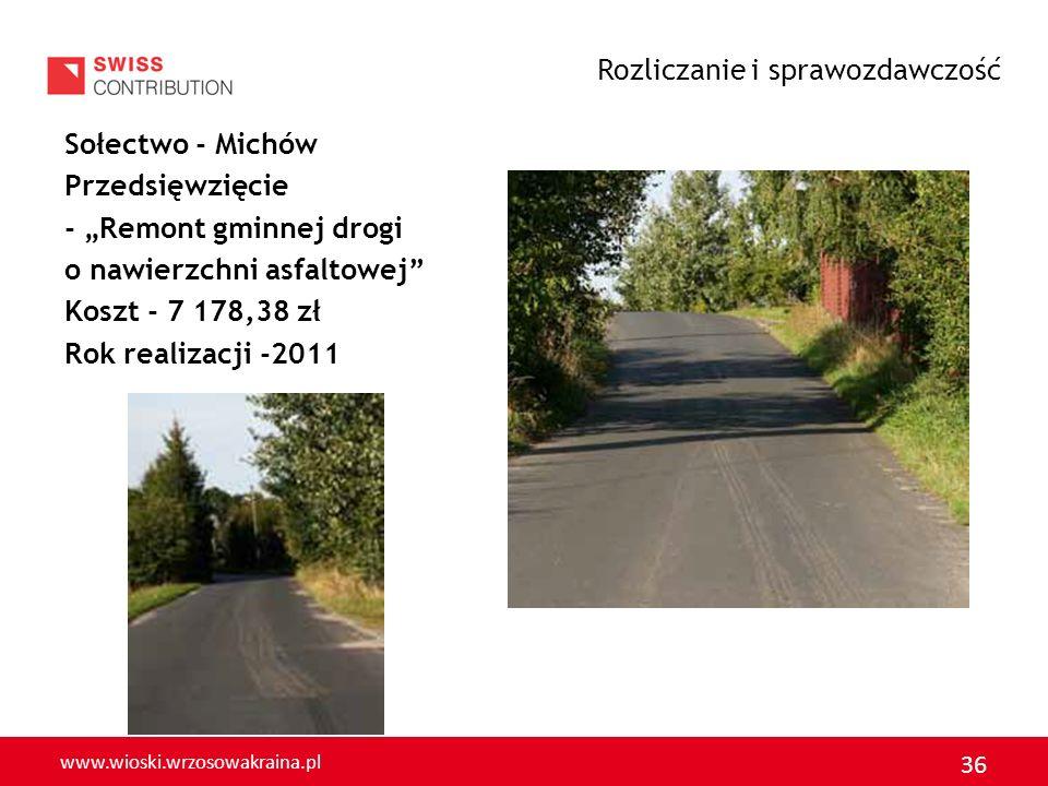 www.wioski.wrzosowakraina.pl 37 Sołectwo Goliszów Przedsięwzięcie – Tabliczki kierunkowo-informacyjne Koszt - 2 500,00 zł Rok realizacji - 2011 Rozliczanie i sprawozdawczość